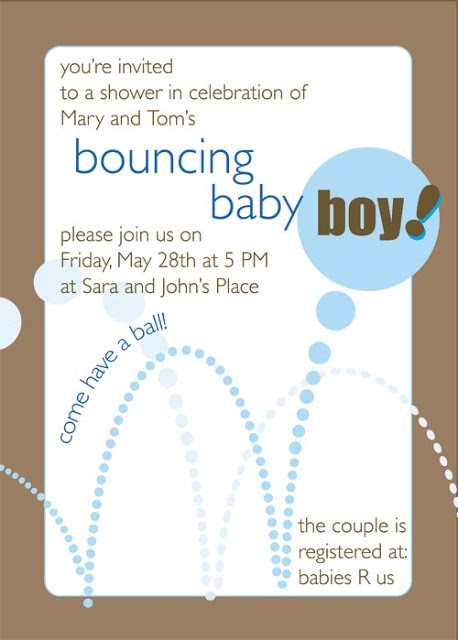 Bouncing Baby Boy Baby Shower