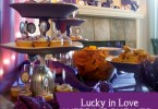 Lucky in Love Vegas-themed bridal shower with purple elements