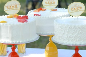 Several Cakes on the Cake Table
