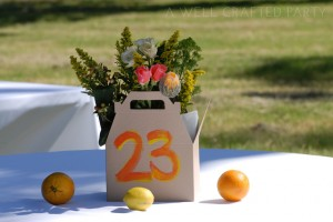Orange and Yellow Wedding Centerpieces