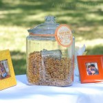 Pecan Favor Area for a Wedding on a Pecan Farm