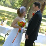 Orange and Yellow Wedding Attire
