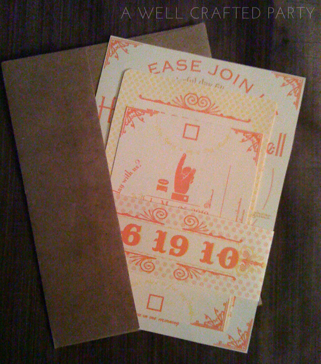 orange and yellow invitation suite