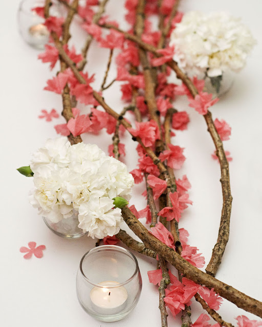 {DIY} Cherry Blossom Branches