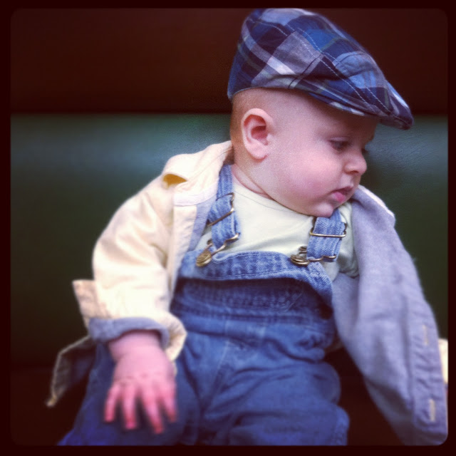 {Baby Style} Overalls and Plaid