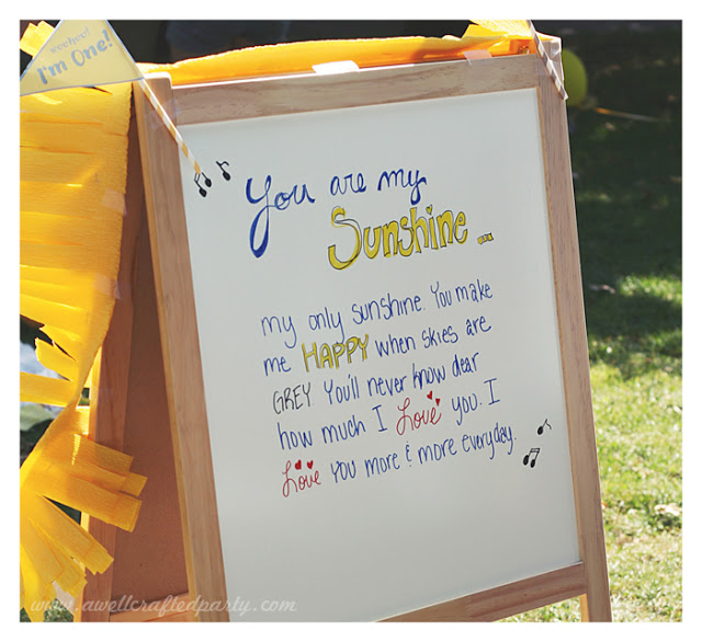 {Real Party} You Are My Sunshine First Birthday