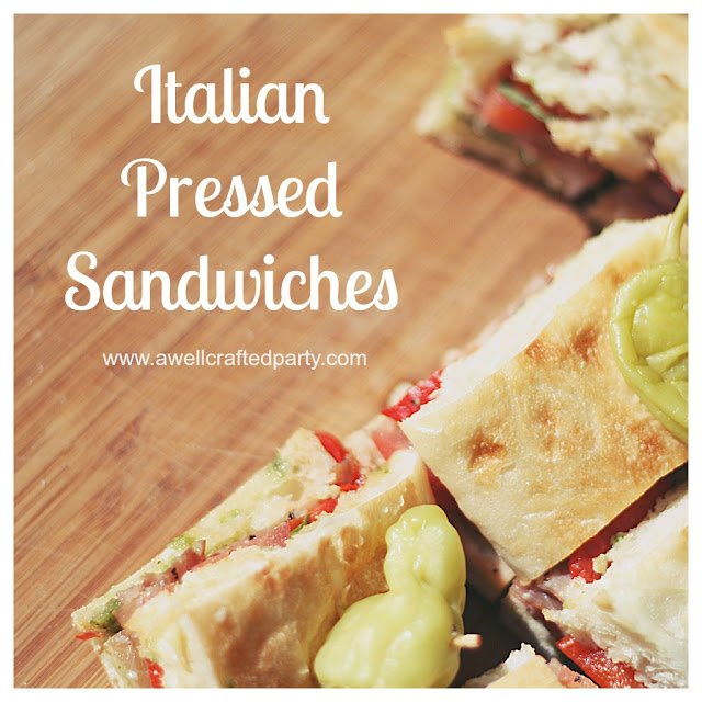 {Recipe} Italian Pressed Sandwiches