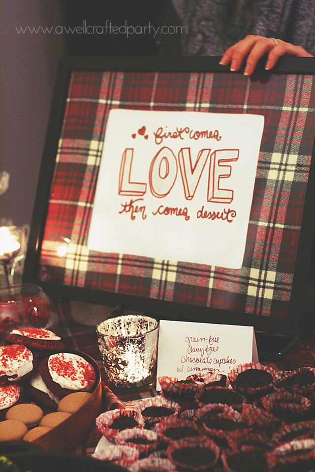 {Real Party} Plaid Valentine's Day Girl's Night