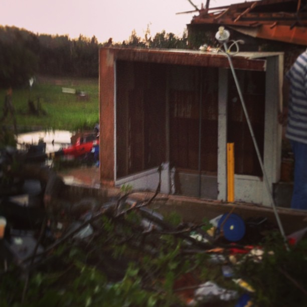 My friend and her family were in this shelter during the tornado.