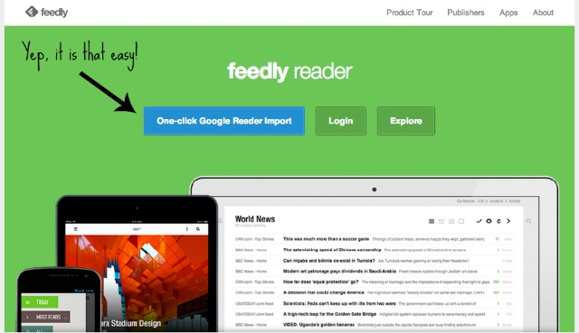 Easy Feed Reader Change Over via Feedly