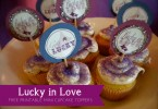 Lucky in Love Mini Cupcake Toppers Free Printables from A Well Crafted Party