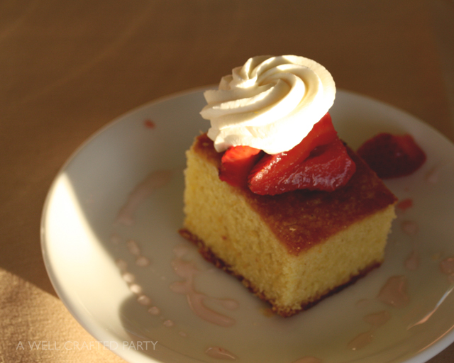 Olive Oil Cake with Strawberries