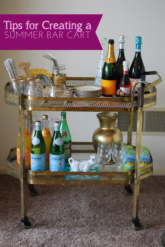 Summer Entertaining Series Bar Cart From Sam Rosen A Well Crafted Party