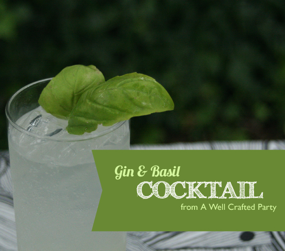 Simple, Refreshing Gin and Basil Cocktail