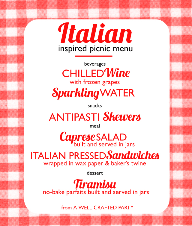 Picnic Week: Italian Inspired Picnic Menu