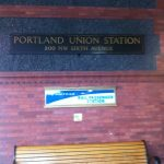 The beginning of my trip— Leaving from Union Station in Portland, OR