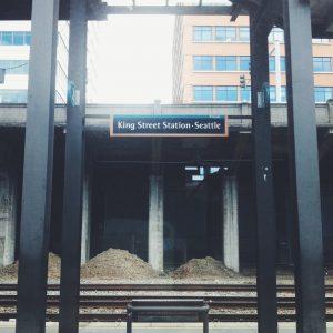 Made it to Seattle! Kings Street Station in Seattle, WA