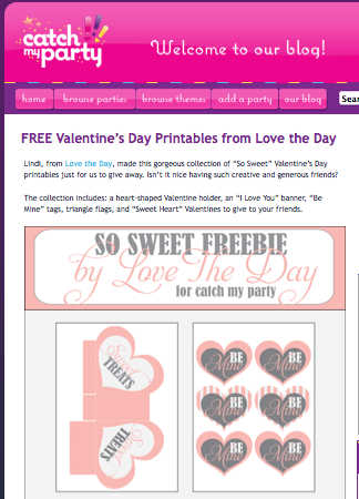 Quick Post: Valentine's Freebies
