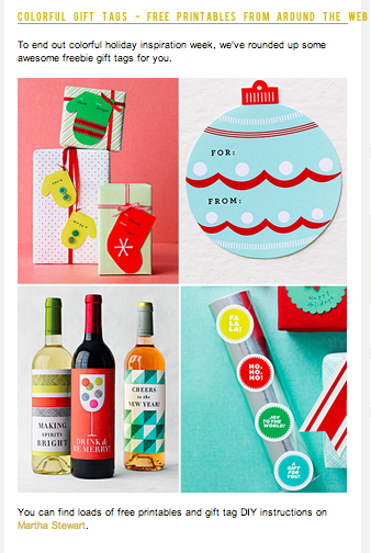 Free Printables make the Holidays Happier
