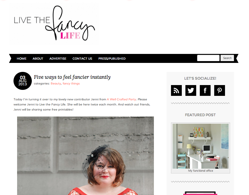 Featured On: Living the Fancy Life