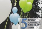 5 tips for planning a community event