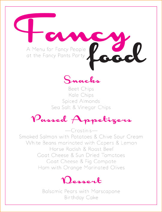 {Recipes} Fancy Pants Desserts