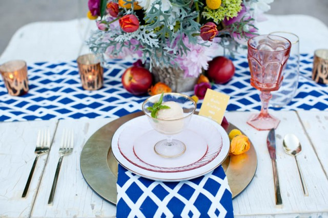 Vintage and Modern Sweet Heart Table