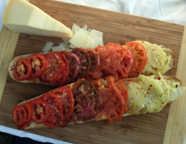 Recipe for a Roasted Tomato Open Faced Sandwich