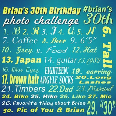 Instagram Birthday Photo Challenge