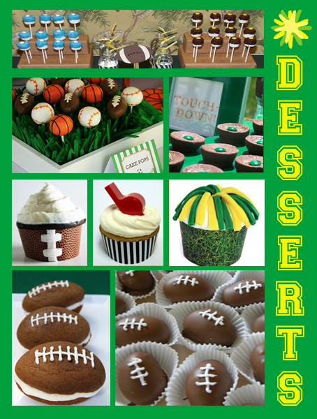 Inspiration Board: Super Bowl Dessert Table