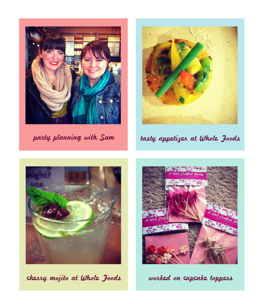 Weekend in Review: Whole Foods, Party Prep, and Portland Bloggers