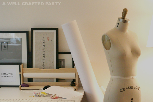 Junjin Lee's studio space featured on a well crafted party