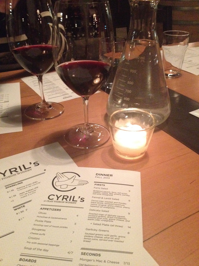 Portland Restaurants: Cyril's at Clay Pigeon Winery