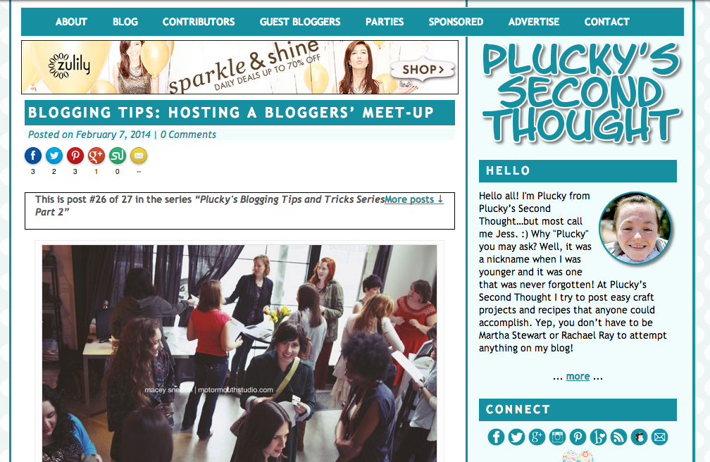 How to Host a Blogger Meet-Up