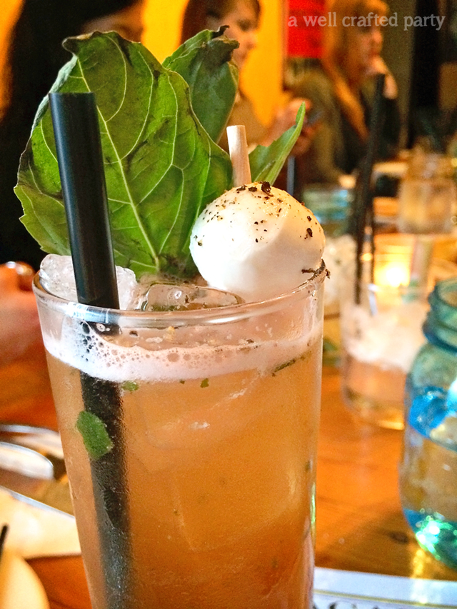 Caprese Cocktail Acadia Portland // A Well Crafted Party Review