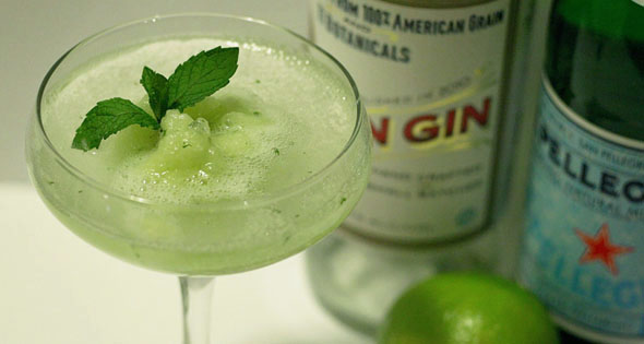 Saturday Spirits: Melon & Mint Granita Cocktail