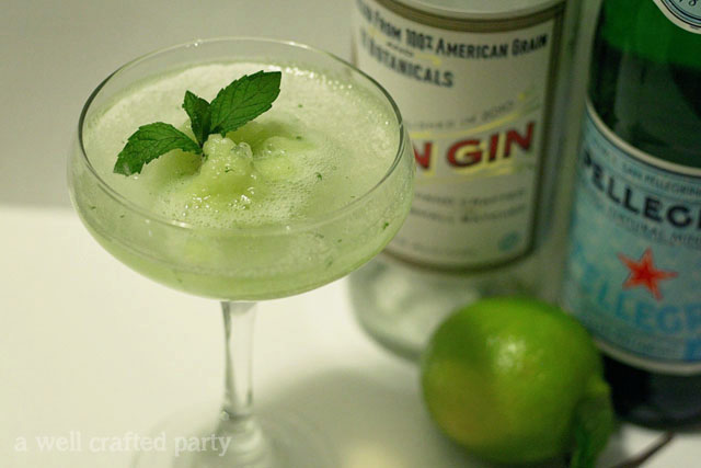 Melon and Mint Granita cocktail