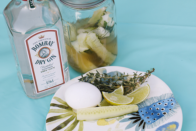 Saturday Spirits: Gin, Thyme, and Quick Pickle Fizz Cocktail