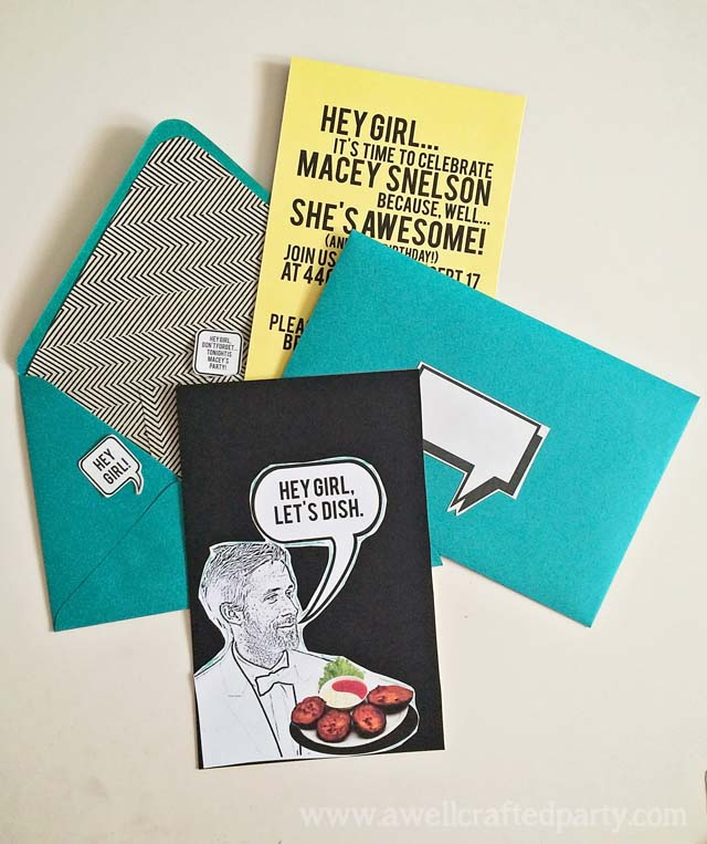 Ryan Gosling Party - DIY Invitation // A Well Crafted Party