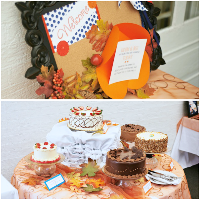 Fall wedding, cakestands, DIY wedding - A Well Crafted Party