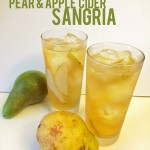 Pear and Apple Cider Sangria // A Well Crafted Party