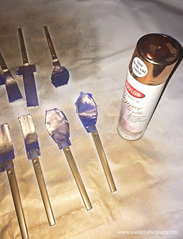 DIY Copper Flatware Step Two // A Well Crafted Party