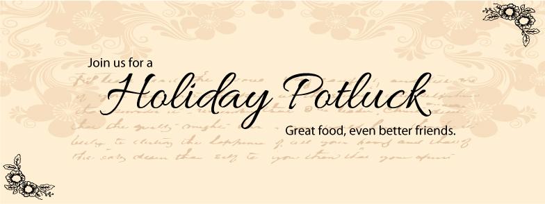 Free Holiday Potluck Facebook Invites Recipe Card Printables A