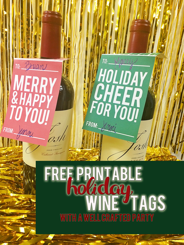 Wine Gift Tags Free Printables