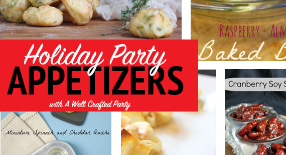 Holiday Party Food Round Up- Christmas and NYE Appetizers