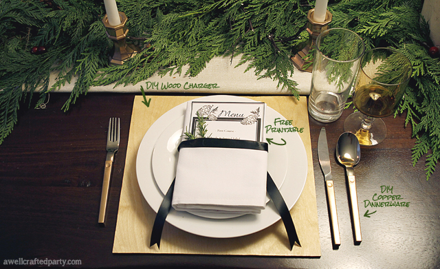 Free Printable Holiday Menus // A Well Crafted Party
