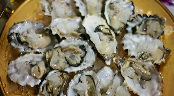 More Oyster Toppings + Champagne Granita Recipe