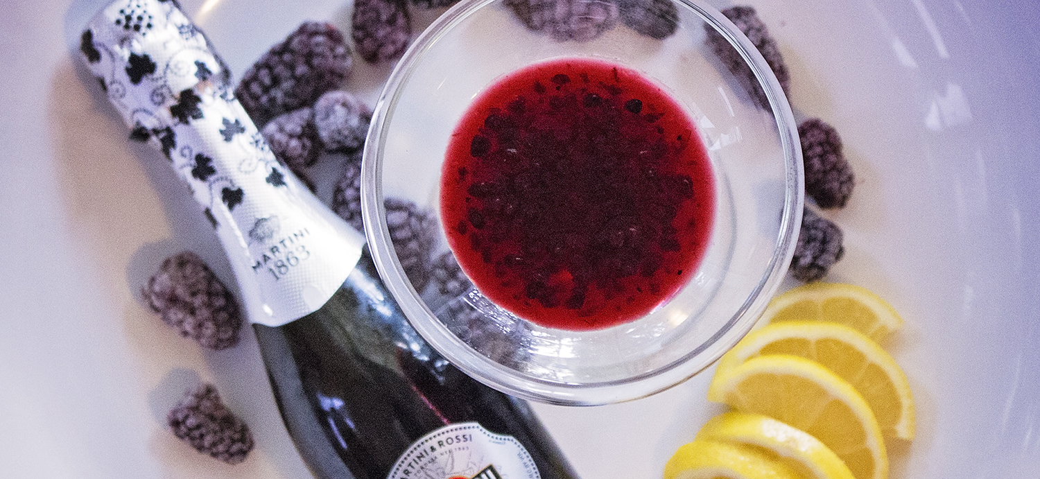 Saturday Spirits: Marionberry Champagne Cocktail