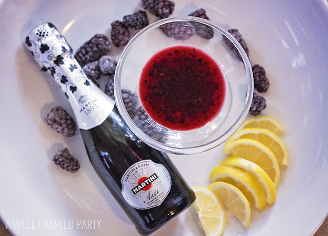 Marionberry Champagne Cocktail from A Well Crafted Party