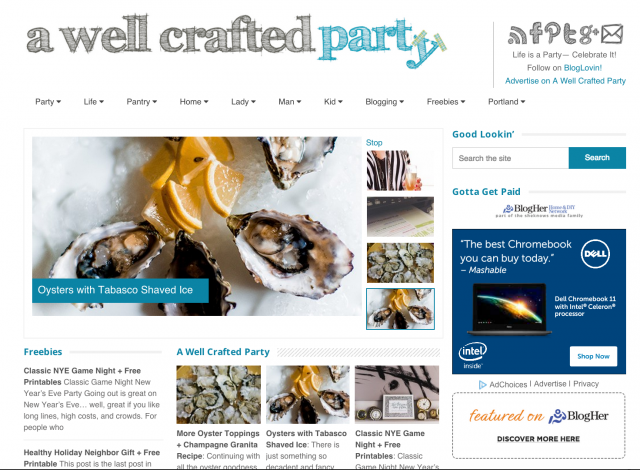 A Well Crafted Party Blog Magazine Layout 2014